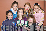 MEDALS: Delighted with their medals were young girls from St Brendan Hurling Club, as they were presented with their medals at a special ceremony in St Brendan's Community Centree, Ardferty on Friday night. L-r: Abby Duggan, Orla Hussey, Michaela McCarthy, Nessa McGarty, Katy Daly and Chloe Davis.................................. ....