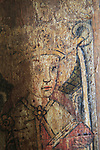 Saint Bridget of Sweden, medieval rood screen paintings, St Andrew church, Westhall, Suffolk, England, UK