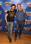 Christian Borle and  James Hindman attends the cast photo call for 'Popcorn Falls' at the Jerry Orbach Theatre on September 6, 2018 in New York City.