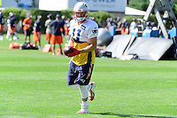 Wednesday, August 17, 2016: New England Patriots wide receiver Julian Edelman (11) takes part at a joint training camp session between the Chicago Bears and the New England Patriots held at Gillette Stadium in Foxborough Massachusetts. Eric Canha/CSM