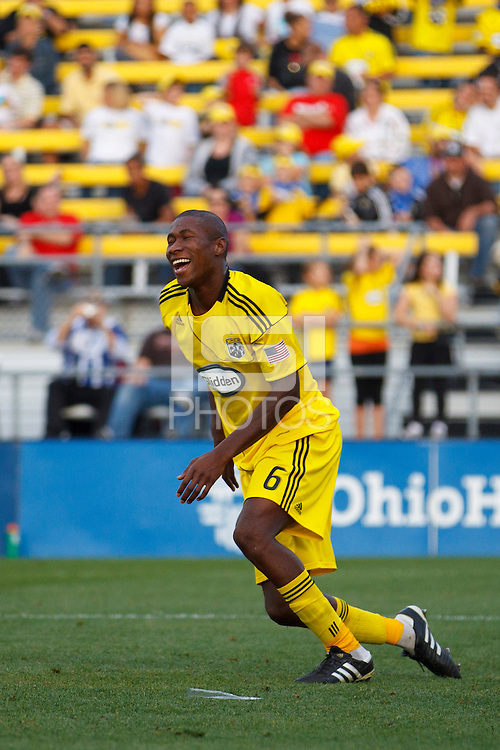 24 OCTOBER 2010:  Columbus Crew defender Andy Iro (6) during MLS soccer game against the Philadelphia Union at Crew Stadium in Columbus, Ohio on August 28, 2010.