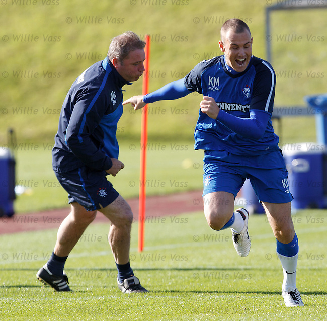 Kenny Miller beats Ally mcCoist in the sprints