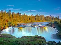 Grass River at Pisew Falls<br /> Pisew Falls Provincial Park<br /> Manitoba<br /> Canada