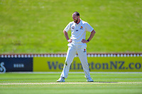 Wellington's Iain McPeake during day three of the Plunket Shield cricket match between the Wellington Firebirds and Canterbury at Basin Reserve in Wellington, New Zealand on Thursday, 31 October 2019. Photo: Dave Lintott / lintottphoto.co.nz