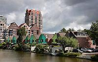 Nederland - Zaandam-  2020.  Stadsvenieuwing Inverdan. Woontoren de Tsaar aan de Hermitage .   Foto : ANP/ Hollandse Hoogte / Berlinda van Dam