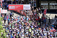 Picture by Allan McKenzie/SWpix.com - 14/05/2017 - Cycling - HSBC UK British Cycling Spring Cup Series  - Lincoln Grand Prix 2017 -<br /> Lincoln Cathedral start roll out