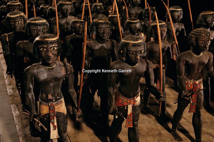 Egypt of the Pharoahs; Wooden Nubian Archers; 11th Dynasty; Tomb of Mesehti; Egypt