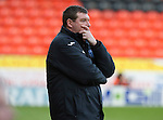 Dundee Utd v St Johnstone..26.12.12      SPL.Saints asst boss Tommy Wright in thoughtful mood.Picture by Graeme Hart..Copyright Perthshire Picture Agency.Tel: 01738 623350  Mobile: 07990 594431