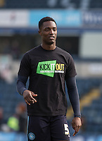Anthony Stewart of Wycombe Wanderers in his Kick it Out shirt during the Sky Bet League 2 match between Wycombe Wanderers and Stevenage at Adams Park, High Wycombe, England on 12 March 2016. Photo by Andy Rowland/PRiME Media Images.
