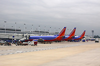 Southwest Airlines Airplanes<br /> At Airport By Jonathan Green