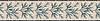 "8 1/2"" Charleston border, a hand-cut mosaic shown in tumbled Travertine White, New Kendra, Verde Luna, Verde Alpi, Spring Green, and Emperador Dark by New Ravenna."