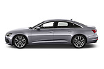 Car driver side profile view of a 2019 Audi A6 Design 4 Door Sedan
