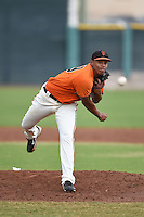 San Francisco Giants pitcher Cesar Yanez (59) during an Instructional League game against the SK Wyverns on October 17, 2014 at Giants Baseball Complex in Scottsdale, Arizona.  (Mike Janes/Four Seam Images)