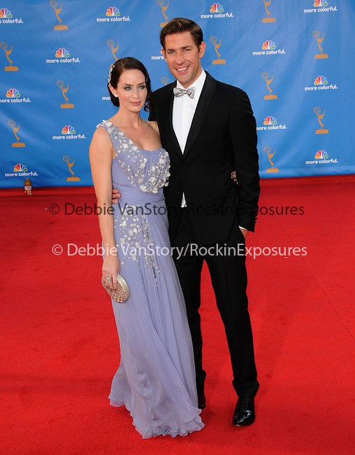 Emily Blunt & John Krasinski..  at The 62nd Anual Primetime Emmy Awards held at Nokia Theatre L.A. Live in Los Angeles, California on August 29,2010                                                                   Copyright 2010  DVS / RockinExposures