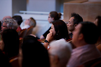 Audience members watch the Stars of Tomorrow Concert at the 11th USA International Harp Competition at Indiana University in Bloomington, Indiana on Thursday, July 11, 2019. (Photo by James Brosher)