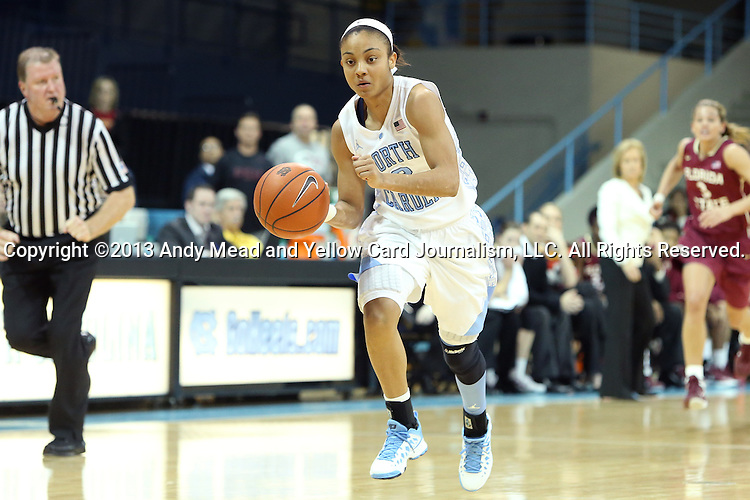31 January 2013: North Carolina's Latifah Coleman. The University of North Carolina Tar Heels played the Florida State University Seminoles at Carmichael Arena in Chapel Hill, North Carolina in an NCAA Division I Women's Basketball game. UNC won the game 72-62.