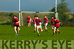 Action from ISK Killorglin v Bishopstown in the Frewen Cup in Currans on Friday.