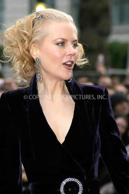 WWW.ACEPIXS.COM . . . . .  ... . . . . US SALES ONLY . . . . .....LONDON, APRIL 14, 2005....Nicole Kidman at the UK premiere of The Interpreter held at the Empire Leicester Square Cinema.....Please byline: FFAMOUS-ACE PICTURES-F. DUVAL... . . . .  ....Ace Pictures, Inc:  ..Craig Ashby (212) 243-8787..e-mail: picturedesk@acepixs.com..web: http://www.acepixs.com