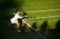 Ana Bogdan of Romania in action against Caroline Garcia (21) of France in in their Ladies' Singles Second Round Match today<br /> <br /> Photographer Ashley Western/CameraSport<br /> <br /> Wimbledon Lawn Tennis Championships - Day 3 - Wednesday 5th July 2017 -  All England Lawn Tennis and Croquet Club - Wimbledon - London - England<br /> <br /> World Copyright &not;&copy; 2017 CameraSport. All rights reserved. 43 Linden Ave. Countesthorpe. Leicester. England. LE8 5PG - Tel: +44 (0) 116 277 4147 - admin@camerasport.com - www.camerasport.com