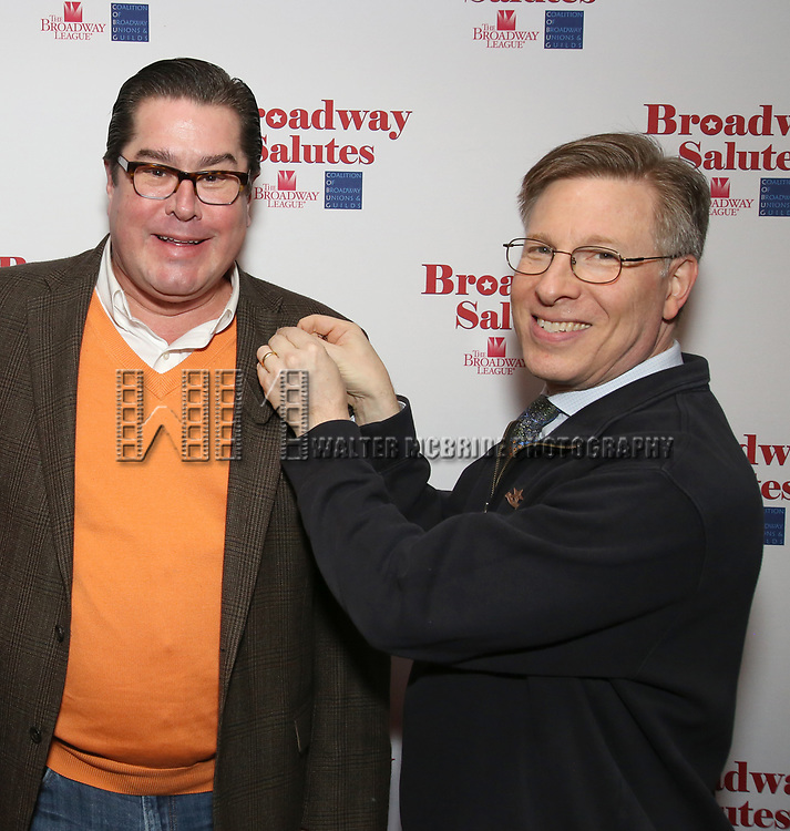 Merwin Foard and Ira Mont attends The Broadway League and the Coalition of Broadway Unions and Guilds (COBUG) presents the 9th Annual Broadway Salutes at Sardi's on November , 2017 in New York City.
