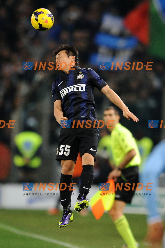 Yuto Nagatomo Inter.<br /> Roma 06-01-2014 Stadio Olimpico. Football Calcio 2013/2014 Serie A. Lazio - Inter. Foto Antonietta Baldassarre / Insidefoto