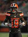 CLEVELAND, OH - SEPTEMBER 1, 2016: Wide receiver Corey Coleman #19 of the Cleveland Browns runs to his position in the first quarter of a game on September 1, 2016 against the Chicago Bears at FirstEnergy Stadium in Cleveland, Ohio. Chicago won 21-7. (Photo by: 2016 Nick Cammett/Diamond Images)  *** Local Caption *** Corey Coleman