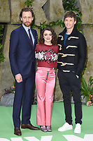 "Tom Hiddlestone, Maisie Williams and Eddie Redmayne<br /> arriving for the ""Early Man"" world premiere at the IMAX, South Bank, London<br /> <br /> <br /> ©Ash Knotek  D3369  14/01/2018"