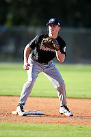 December 28, 2009:  Michael Julian (1) of the Baseball Factory Commodores team during the Pirate City Baseball Camp & Tournament at Pirate City in Bradenton, FL.  Photo By Mike Janes/Four Seam Images