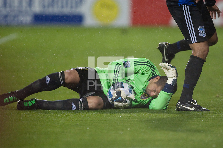 Nick Rimando on the save. Real Salt Lake defeated the San Jose Earthquakes 1-0 at Buck Shaw Stadium in Santa Clara, California on March 19th, 2011.