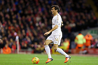 Jack Cork during the Barclays Premier League Match between Liverpool and Swansea City played at Anfield, Liverpool on 29th November 2015