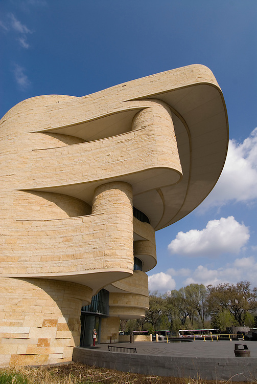 Washington, DC: National Museum of the American Indian.  External view of undulating architecture.  Photo # wash99304-70670..Photo copyright Lee Foster, www.fostertravel.com, lee@fostertravel.com, 510/549-2202
