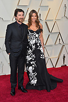 LOS ANGELES, CA. February 24, 2019: Christian Bale &amp; Sibi Blazic at the 91st Academy Awards at the Dolby Theatre.<br /> Picture: Paul Smith/Featureflash