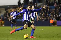 Michael Hector of Sheffield Wednesday, on loan from Chelsea, in action during Millwall vs Sheffield Wednesday, Sky Bet EFL Championship Football at The Den on 12th February 2019