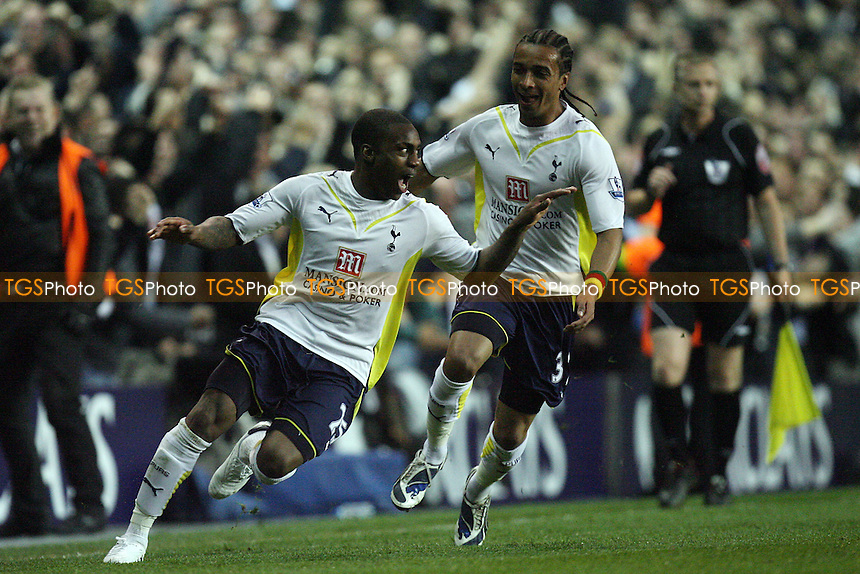 Danny Rose of Tottenham celebrates scoring the opening goal - Tottenham vs Arsenal 14/04/10 - MANDATORY CREDIT: Dave Simpson/TGSPHOTO - Self billing applies where appropriate - 0845 094 6026 - contact@tgsphoto.co.uk -NO UNPAID USE