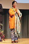 Sunitha Krishnan accepts award at the John Jay Justice Award ceremony, April 5 2011.