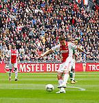 Nederland, Amsterdam, 15 april 2012.Eredivisie .Seizoen 2011-2012.Ajax-De Graafschap.Derk Boerrigter (r.) van Ajax scoort de 1-0