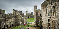 Caernarfon Castle in north Wales, UK. Friday 01 November 2019