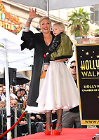 LOS ANGELES, CA. February 05, 2019: Pink & Jameson Moon Hart at the Hollywood Walk of Fame Star Ceremony honoring singer Pink.<br /> Pictures: Paul Smith/Featureflash