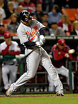 18 May 2007: Baltimore Orioles second baseman Brian Roberts in action against the Washington Nationals at RFK Stadium in Washington, DC. The Orioles defeated the Nationals 5-4 in the first game of the 3-game interleague series...Mandatory Photo Credit: Ed Wolfstein Photo