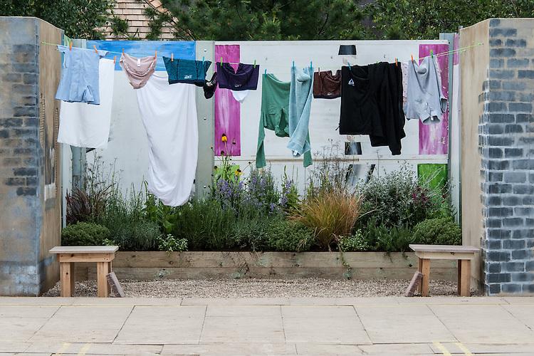 "Environment Garden section of ""Urban Oasis"" show garden, designed by Chris Beardshaw, Hampton Court Flower Show 2012."
