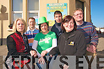 Killorglin is the place to be this St Patrick's day with a jam packed day of festivities planned for Mid Kerry. .Back L-R Erwin Kingston, John McGrath and Steven O'Grady .Front L-R Geraldine O'Sullivan, Orna Moriarty Ecles and Edel Murphy