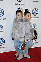 LOS ANGELES - NOV 30:  The Royal Twins, Bella and Chloe at the Volkswagen's Annual Holiday Drive-In on the Goya Studios on November 30, 2018 in Los Angeles, CA