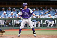 CHAPEL HILL, NC - FEBRUARY 19: Brady Pearre #2 of High Point University gets set in the batter's box during a game between High Point and North Carolina at Boshamer Stadium on February 19, 2020 in Chapel Hill, North Carolina.