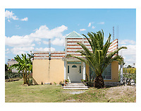 Vernacular architecture surrounded by Nopal fields on the outskirts of San Andres Cholula, Puebla, Mexico