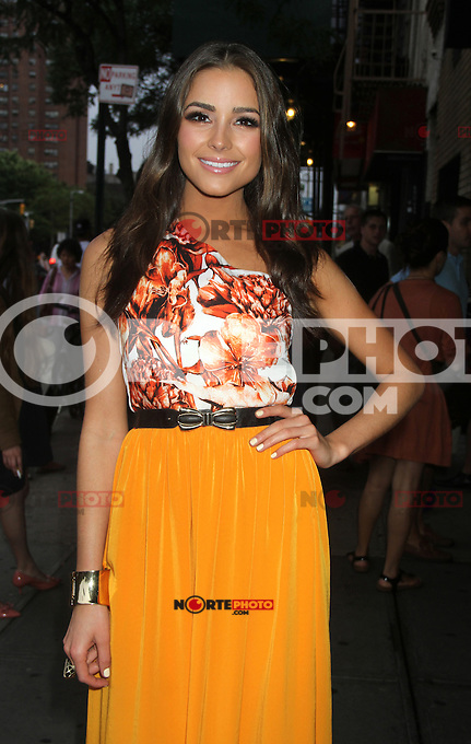 NEW YORK CITY, NY - August  01, 2012: Olivia Culpo at the screening of 'Celeste and Jess Forever' at the Sunshine Landmark Theater in New York City. &copy; RW/MediaPunch Inc. /NortePhoto.com<br />