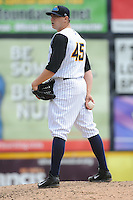 Trenton Thunder pitcher Cole Kimball (45) during game against the Erie Sea Wolves at ARM & HAMMER Park on May 15, 2014 in Trenton, NJ.  Erie defeated Trenton 4-2.  (Tomasso DeRosa/Four Seam Images)