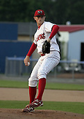 July 12, 2004:  Pitcher Joe Bisenius of the Batavia Muckdogs, Short-Season Single-A affiliate of the Philadelphia Phillies, during a game at Dwyer Stadium in Batavia, NY.  Photo by:  Mike Janes/Four Seam Images
