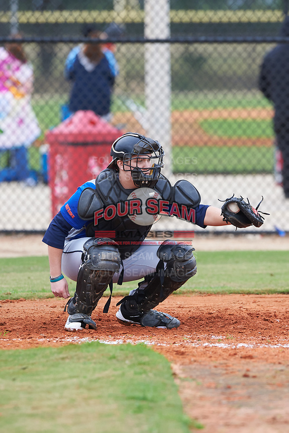Brady Whitacre (11) of Ridgeley, West Virginia during the Baseball Factory All-America Pre-Season Rookie Tournament, powered by Under Armour, on January 13, 2018 at Lake Myrtle Sports Complex in Auburndale, Florida.  (Michael Johnson/Four Seam Images)