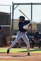 Milwaukee Brewers outfielder Je'Von Ward (5) at bat during an Instructional League game against the San Diego Padres on September 27, 2017 at Peoria Sports Complex in Peoria, Arizona. (Zachary Lucy/Four Seam Images)