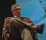 """Elliott Gould as he interviews on the the stage of the old California Theatre after receiving the Maverick Award at Cinequest 2012 and just prIor to the screening of his latest feature film, """"Dorfman."""" See many more images of """"Dorfman"""" in the Film & T.V. Gallery."""